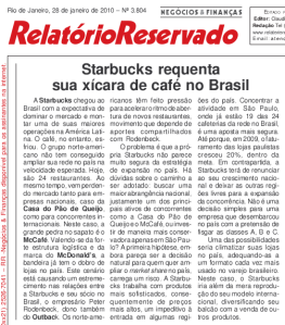 RR on Starbucks
