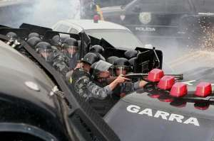 Cop on Sambodian Cop