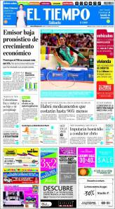 El Tiempo has adopted the prismatic color scheme of other clients of  Innovation International Media Consulting -- a Web design powerhouse