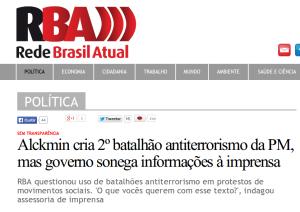 Alckmin creates second antiterror unit, but government blocks press and public access