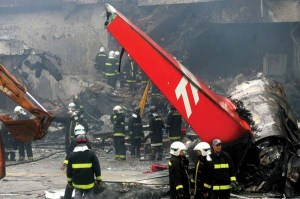 Tam Airlines flight crashes into a fuel depot killing 186 passengers, Congonhas airport, Sao Paulo, Brazil - 18 Jul 2007