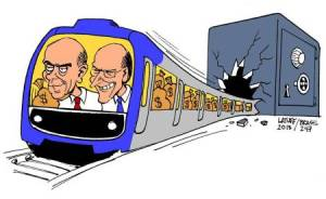 "Cartoonist Latuff mocks the ""Ali Babas"" Alckmin and Serra"