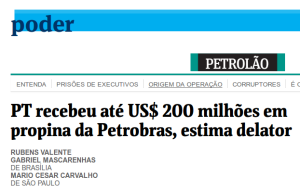 PT received R$ 200 million in bribes from Petrobras